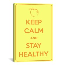 Keep Calm and Stay Healthy Textual Art on Canvas