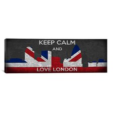 Keep Calm and Love London Textual Art on Canvas