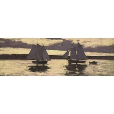 'Gloucester, Mackerel Fleet at Sunset' by Winslow Homer Painting Print on Canvas
