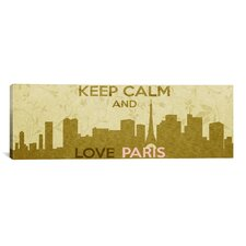 Keep Calm and Love Paris Textual Art on Canvas