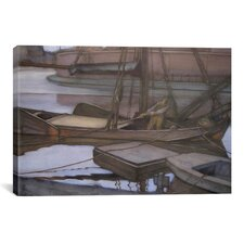 'Gone Fishing, 1900' by Piet Mondrian Painting Print on Canvas