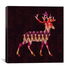 'Ikat Deer' by Budi Satria Kwan Graphic Art on Canvas