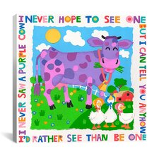 """I Never Saw a Purple Cow"" Canvas Wall Art by Cheryl Piperberg"
