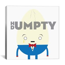 Kids Children Humpty Dumpty Graphic Canvas Wall Art