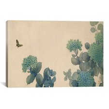 'Hydrangeas' by Hishida Shunso Graphic Art on Canvas