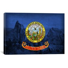 Idaho Flag, City of Rock Graphic Art on Canvas