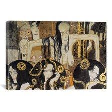 'Gorgonen 3 (The Three Gorgones: Sickness, Madness, Death)' by Gustav Klimt Painting Print on Canvas