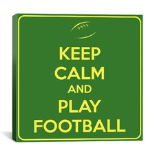 Keep Calm and Play Football II Textual Art on Canvas