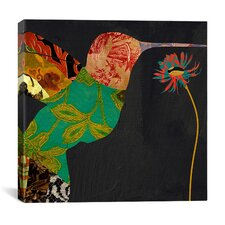 """Humming Bird Brocade IV"" Canvas Wall Art from Color Bakery"