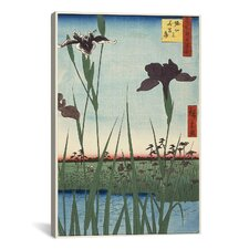 Ando Hiroshige 'Horikiri Iris Garden' by Utagawa Hiroshige l Graphic Art on Canvas