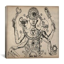 Esoteric Figure Drawing Canvas Wall Art