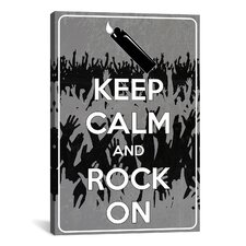 Keep Calm and Rock On Textual Art on Canvas