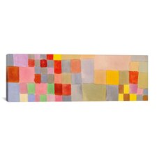 Panoramic 'Flora on the Sand' by Paul Klee Graphic Art on Canvas