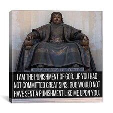 Genghis Khan Quote Canvas Wall Art