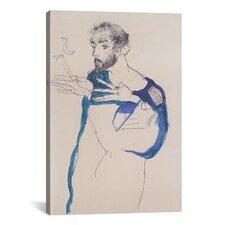 Gustav Klimt 'Im Blauen Malerkittel' by Egon Shiele Painting Print on Canvas