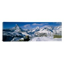 Panoramic Matterhorn, Switzerland Photographic Print on Canvas