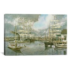 'Generic Seaport' by Stanton Manolakas Painting Print on Canvas