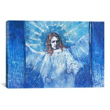 'Half-Figure of an Angel (After Rembrandt)' by Vincent van Gogh Painting Print on Canvas