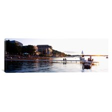 Panoramic Lake Mendota, University of Wisconsin, Madison, Wisconsin Photographic Print on Canvas
