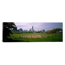 Panoramic Grant Park, Chicago, Illinois Photographic Print on Canvas
