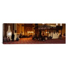 Panoramic Group of People Praying in Ulu Camii, Turkey Photographic Print on Canvas