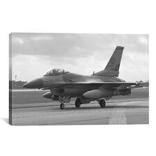 Photography F-16 Fighter Plane Photographic Print on Canvas
