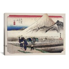 'Hara (Takaido)' by Utagawa Hiroshige Painting Print on Canvas