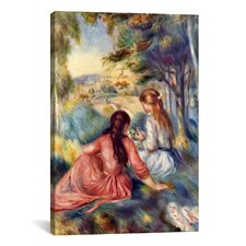 'In the Meadow' by Pierre-Auguste Renoir Painting Print on Canvas