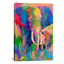 'Elephant' by Richard Wallich Painting Print on Canvas