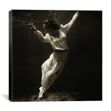"""""""Fashion Model Underwater in Dolphin Tank, Marineland, Florida"""" Canvas Wall Art by Toni Frissell"""
