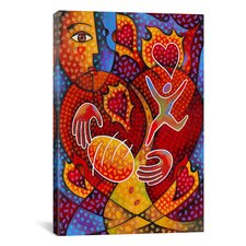 'Hearts on Fire' by Jim Dryden Painting Print on Canvas
