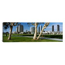 Panoramic Embarcadero Marina Park, San Diego, California Photographic Print on Canvas