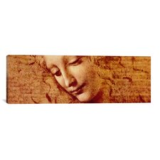 'Female Head' by Leonardo da Vinci Painting Print on Canvas