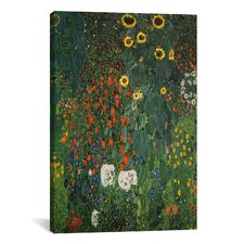 'Farm Garden with Sunflowers 1912' by Gustav Klimt Painting Print on Canvas