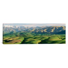 Panoramic Farmland S Canterbury, New Zealand Photographic Print on Canvas