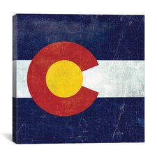 Colorado Flag, Map Graphic Art on Canvas