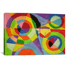 'Color Explosion' by Robert Delaunay Painting Print on Canvas
