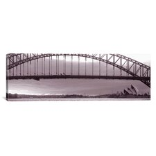 Panoramic Harbor Bridge, Pacific Ocean, Sydney, Australia Photographic Print on Canvas