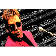 Music 'Elton John' by Donovan Kade Painting Print on Canvas
