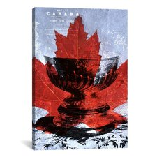 Canada Hockey, Stanley Cup #3 Graphic Art on Canvas