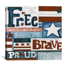 """Home of the Brave"" Canvas Wall Art by Pat Yuille"
