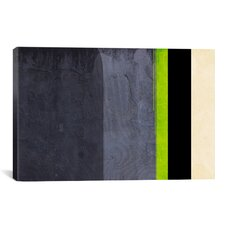 'Honeydew Slate Striped' Graphic Art on Canvas