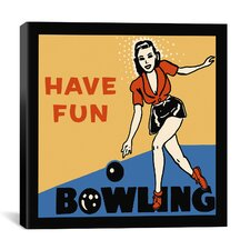 """Have Fun Bowling"" Canvas Wall Art by Retro Series"