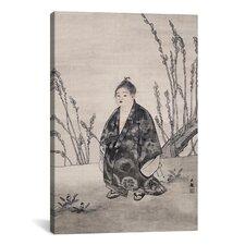'Innocence' by Yamamoto Shunkyo Painting Print on Canvas