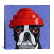 'Hat 13 Devo' by Brian Rubenacker Graphic Art on Canvas