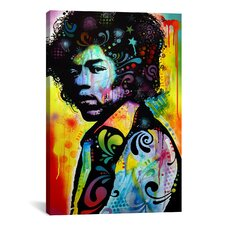 'Hendrix' by Dean Russo Painting Print on Canvas