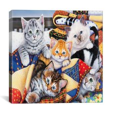 """Cozy Kittens"" Canvas Wall Art by Jenny Newland"