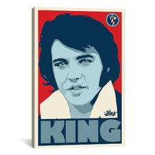 Elvis Presley King 2 Painting Print on Canvas