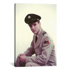 Elvis Presley During Army Year Photographic Print on Canvas