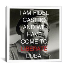 Fidel Castro Quote Canvas Wall Art